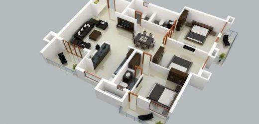 Architecture 3D Arrangement and 3D Modeling Interpretation Concepts